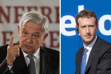 """AMLO llama """"prepotente"""" a Zuckerberg por suspender las cuentas de Donald Trump"""