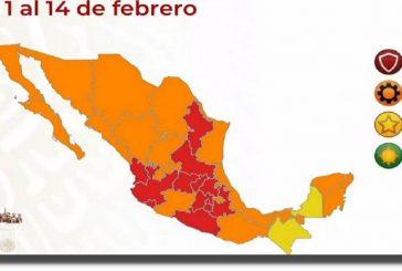 Semáforo COVID-19: 13 estados en semáforo rojo, ya no hay estados en verde