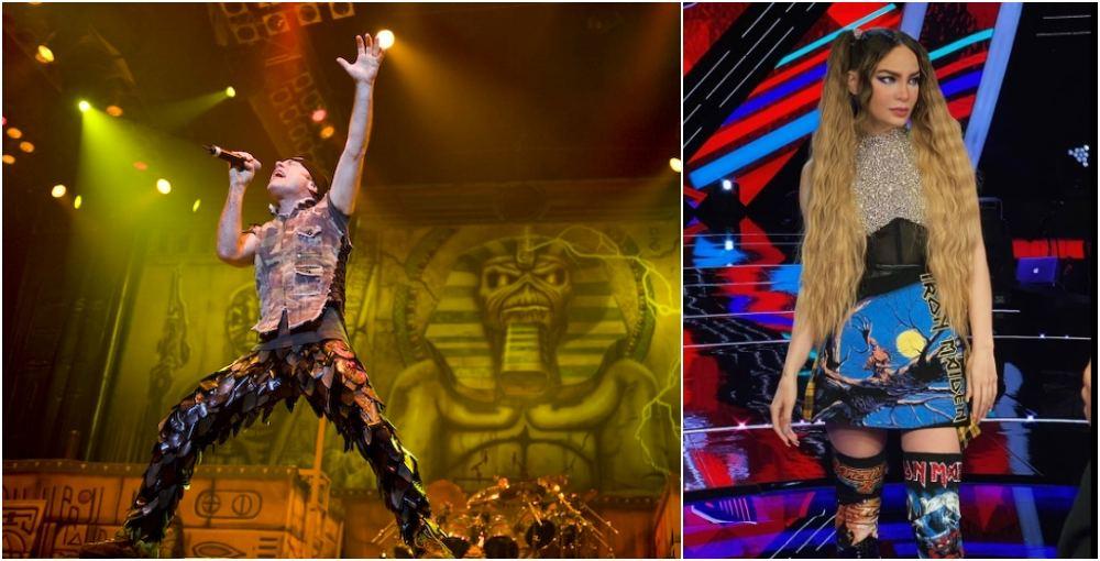 Belinda responde a críticas por vestir de Iron Maiden