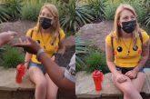 La sacan de parque por usar shorts 'muy cortos' (video)